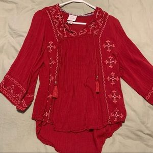 Knox Rose Embroidered boho blouse